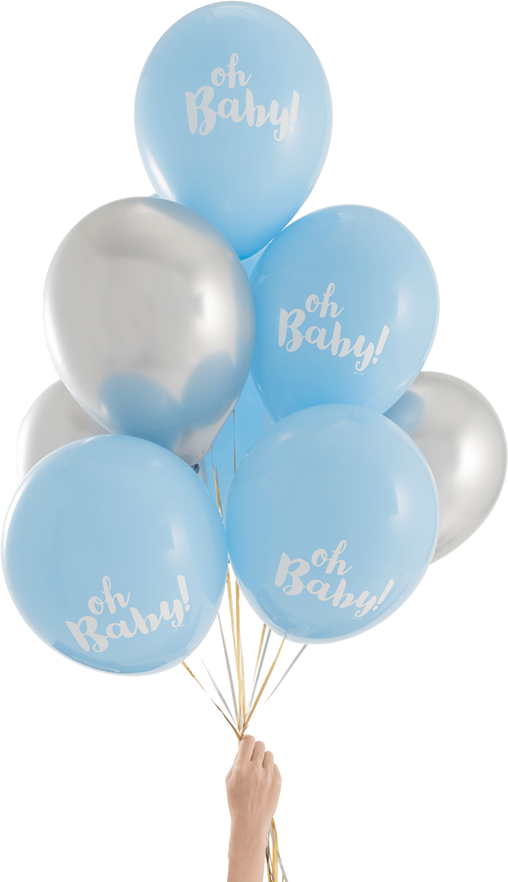 Balloon Bouquet Oh Baby Boy 10pc Mingle